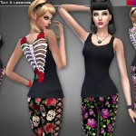 Cre8Sims' Skelerose Tank & Leggings