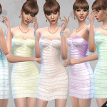 Fritzie.Lein's Shimmering Bandage Dress