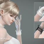 S-Club LL ts4 Lace bracelet & gloves