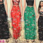 sims2fanbg's 91 – Layer long skirt