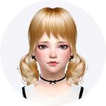 SIMS4 marigod: [request]child_thin ribbon choker & earring_어린이 얇은 리본 초커와 귀걸이_여자 어린이 악세사리