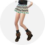 SIMS4 marigod: pattern flare mini skirt_v1_various_패턴 플레어 미니 스커트 다양한 패턴 버전_여성 의상