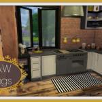 Dinha: Sims 4 – B&W Rugs