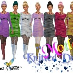 "Knitted Dresses ""Motley"""