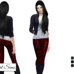 NyGirl Sims 4: Plaid Zipper Skinny Jean