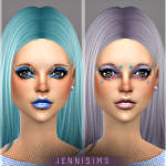 Jennisims: Downloads sims 4:Makeup EyeShadow Artistic Illusions