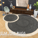 Simsational Designs: Round Elm Jute Rugs