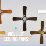 ajoya's ♦ simblr • (5) Ceiling Fans – Light[[MORE]] Details: (2) Wood…