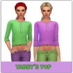 maimouth sims4 — Tabby's Top – the sims 4 – I made 2 versions of…