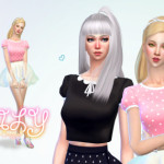 Emily ✿ Puff sleeve cropped Teen to elder 18… | ☂ Babubii – Pinny House ☂