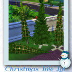 Sim Tinkerings by Tinkle – Christmas Tree Lot Pine Trees – 4 New Meshes * …