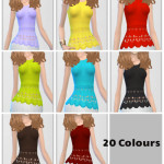 Crochet Tops 20 colours Standalone Item Ea Mesh…