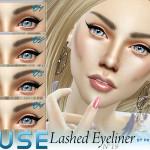Pralinesims' Muse ~ Lashed Eyeliner 4 Styles | N19