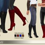 Birba32's Velvet boots