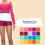 midnightskysims' Sweater Top