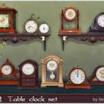 Severinka_'s Table classic clocks