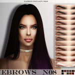 FashionRoyaltySims' FRS Eyebrows N08