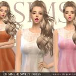 [JS SIMS 3&4] Sweet Dress | JS SIMS