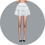 SIMS4 marigold: Gathering Tier Mini skirt_v1_single colors_개더링 티어 미니 스커트 단색 버전_여자 치마