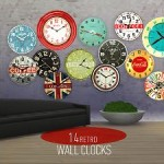 14 Retro Wall Clocks
