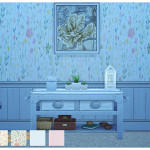 Simista A little sims 4 blog ♥: Field Of Flowers Wallpaper Collection