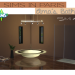 Ts2 to Ts4: Sims in Paris Ama's Bathroom | Sims 4 Designs