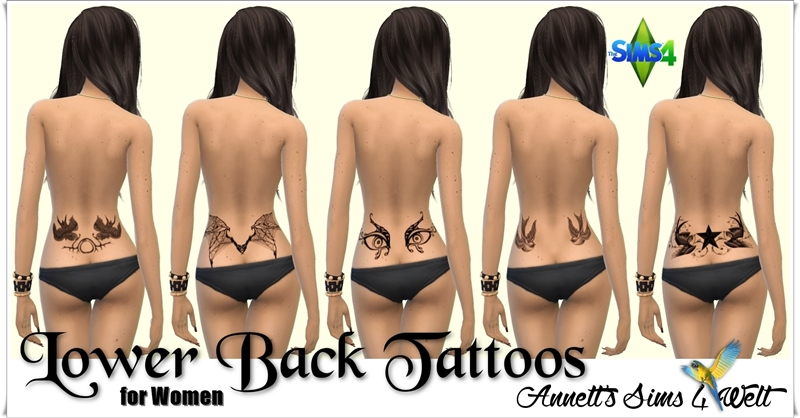 Lower Back Tattoos For Women Sims 4 Updates Sims 4