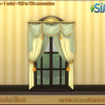 TS3 To TS4 Conversion – curtain Rococo Twin Drape | Designs for Sims