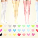 MariaMaria Heart Print Stockings HQ texture 26… – MariaMaria
