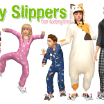 SimLaughLove  Kitty Slippers