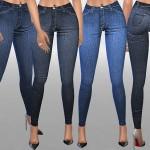 Pinkzombiecupcakes' Indigo High Waist Skinny Jeans