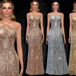 Harmonia's Shimmering Beaded Halter Gown