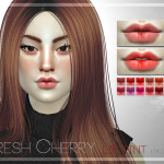 Pralinesims' Fresh Cherry Lip Tint | N45