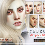 Pralinesims' Eyebrow Minipack N07 – 5 Brows