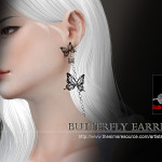 S-Club TS4 WM ButterflyEarring