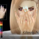 Pralinesims' Glossy Nails N01