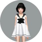 SIMS4 marigold: Child_Sailor Dress_세일러 원피스_여자 어린이 옷
