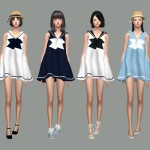 SIMS4 marigold: Sailor Dress_ sailor girl costume dress _
