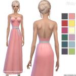 Simista A little sims 4 blog ♥: Strapless Bow Dresses