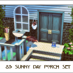 Ts2 to Ts4: 8-3 Sunny Day Porch Set | Sims 4 Designs