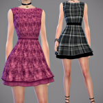Jennisims: Downloads sims 4: Top,Dress Intoxicating Love Base Game compatible