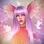 Jennisims: Downloads sims 4: Accessory Angel Of Love (Wing head) Male /Female (5 Swatches)