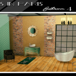 Ts2 to Ts4: Sims in Paris Bathroom 4 | Sims 4 Designs
