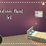 Nymphy's Simblr  Bedroom Paint Set