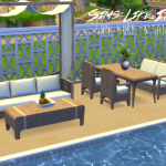 Sims Like It Hot — Sun, Surf, & Sand dining and living set converted…