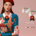 Knit Top & Accessory Collar Set – FELICE (Gucci) … | Starlord Sims