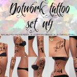 Overkill Simmer  Dotwork Tattoo Set n 4