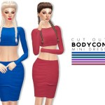 itsleeloo's Cut Out Bodycon Mini Dress