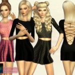 Simsimay's Open Back Lace-up Minimal Dress