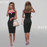 RHOWC's RAVEN PENCIL DRESS